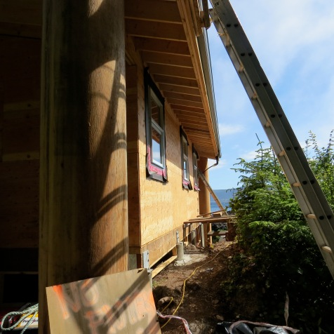 New longhouse cabin at Gwaii Haanas
